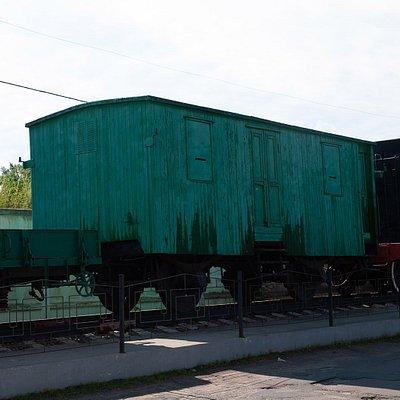 Памятник бронепоезд-паровоз