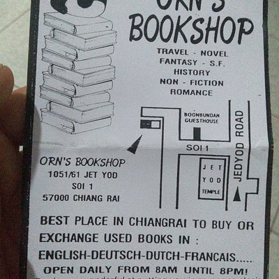 Hand-out from the bookshop