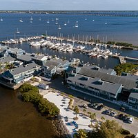 Aerial view of Fishermen's Village on pristine Charlotte Harbor