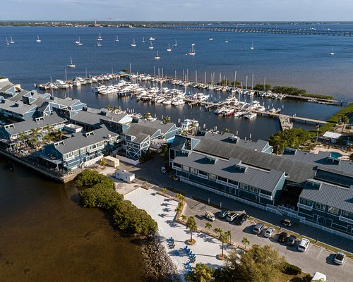 Aerial view of Fishermen's Village on pristine Charlotte Harbor