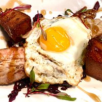 Pork Belly Breakfast for Dinner