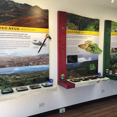 A display at the Summit Visitor Center