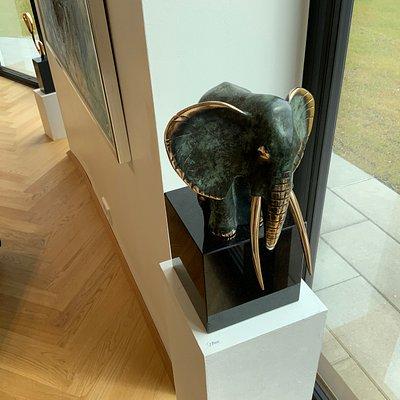 """""""Elephant"""" Stig Kalsing, 35x15x25cm, Bronze"""