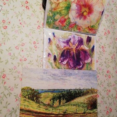 Det er min høst af skønne kort, Ulla er en vidunderlig maler