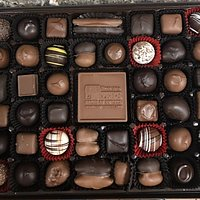 Our personal assortment of homemade chocolates.