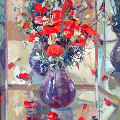 """Valmar  """"Tulips""""   2014, oil on canvas, 60x50cm"""
