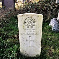 6.  Commonwealth War Graves, the Parish Church of St Michaels and All Angels, Marden, Kent;  the Commonwealth War Grave of Serjeant A A Benz