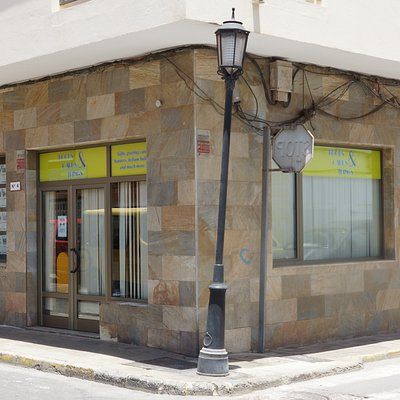 The shop has moved to Calle Acorazado España 4, As you look at our old shop, turn right and left to the main street, we are in 50 metres on the corner, or from the main street turn past  Dr. Kirsten Werner (the German doctor) and we are on the next corner.