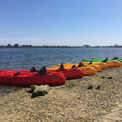 We have 10 solo kayaks and 2 tandem (two person) kayaks.