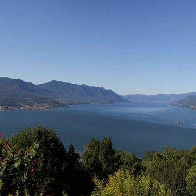 View from Campagnano: Luino, Castelli di Cannero, lago Maggiore
