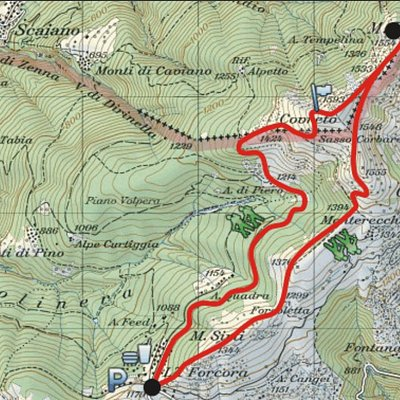 From Forcora to Monte Paglione