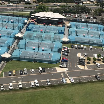 Aerial view of Cairns International Tennis Centre
