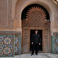Sam Nhairy, CTIS Morocco Destination Management in one of our organized trips to Morocco. New picture at the Mausoleum.