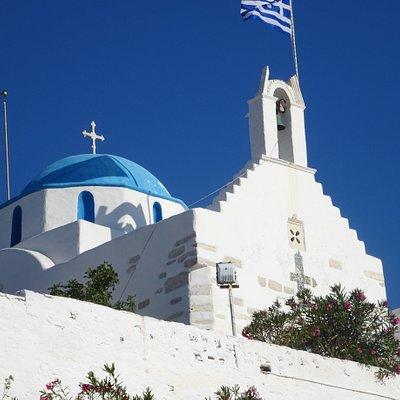 The chapel of Agios Konstantinos in Parikia - Paros, Greece
