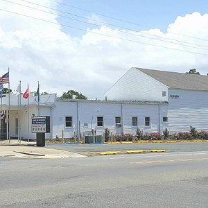 First Off Base USO in America located at 250 West 7th Street in beautiful DeRidder, Louisiana. The building was placed on the National Register of Historic Places in 1992.