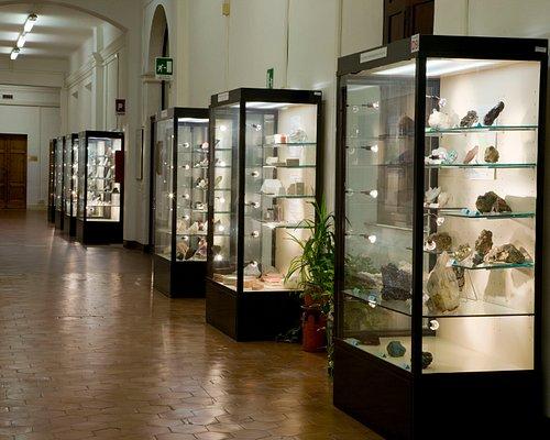 La sezione dei minerali del Museo