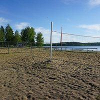 The beach volley court