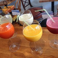 made to order , delicious, healthy, refreshing smoothies