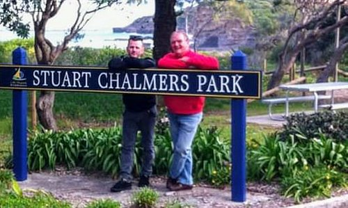 This is me and my dad Stuart Chalmers....yup his park.