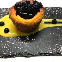 Cheesecake con mirtilli freschi
