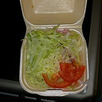 This is a salad for 2 kebabs was missing our drinks as staff really rude