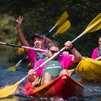 descida do rio Coura em kayak