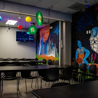 Party time at Lazer Legacy. Book an event with us to reserve one of our awesome party rooms!