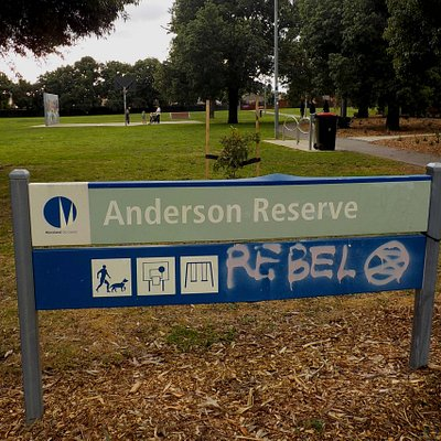 Park sign and facilities