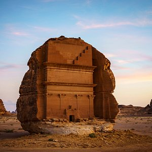 One of AlUla's most famous settlements is Saudi Arabia's first UNESCO World Heritage Site, carved tombs are from around 2nd century BCE until 106 CE.