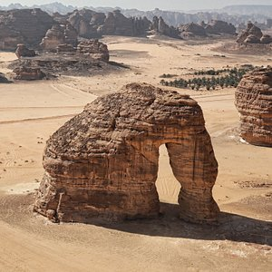 This spectacular rock formation resembles an elephant with its trunk touching the ground, is one of AlUla's geomorphological wonders became one of AlUla iconic landmarks.