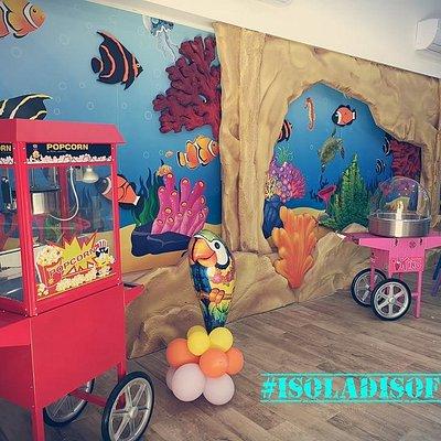 sala per feste per bambini.