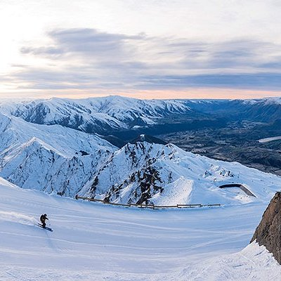 Coronet Peak Ski Area in Queenstown, New Zealand