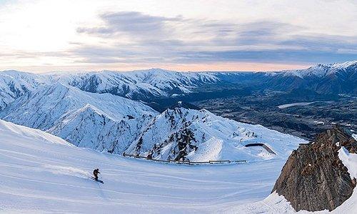Coronet Peak Ski Area in Queenstown, New Zealand
