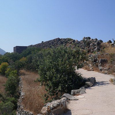 Ruins at the site