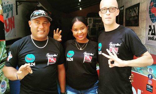 Alejandro, Rosanna & Luke - The 'Superior Dive Sosua' team.