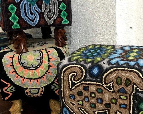 Cute hooked footstools