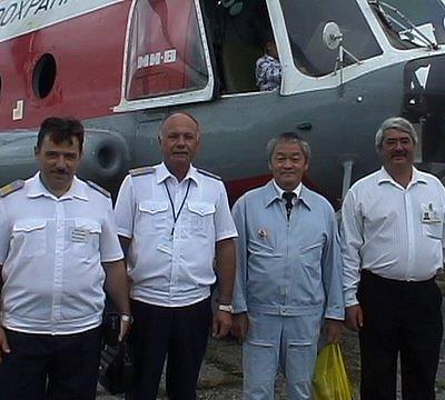 Вертолётчики Благовещенскго ОАО. 2010 г.