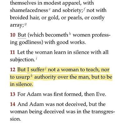 woman pastor alert!