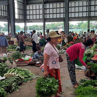 The wholesale market at Yangon Myanmar