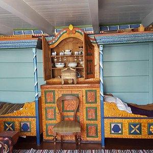 Et av rommene i Det Gamle Posthuset. Foto: privat