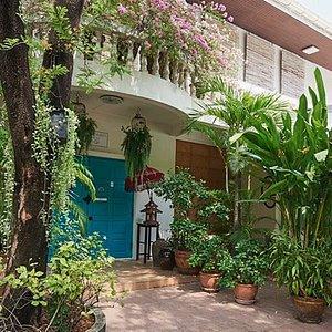 Front door of the spa