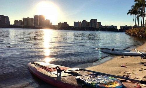 Sunset paddle on Palm Beach Island