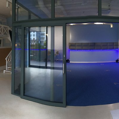 Photo from inside of our VR Arcade