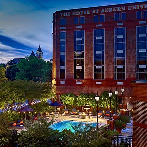 The Hotel at Auburn University Pool on the campus at Auburn University