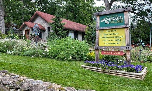 Grovewood Village entrance.