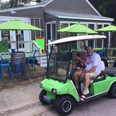 Bring your golfcart and enjoy some wine