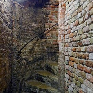 the stairs to the cellar