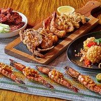 Bites-Fresh Corn Tempura, Chicken Wings, Grilled Prawns,Seafood Fritto Misto