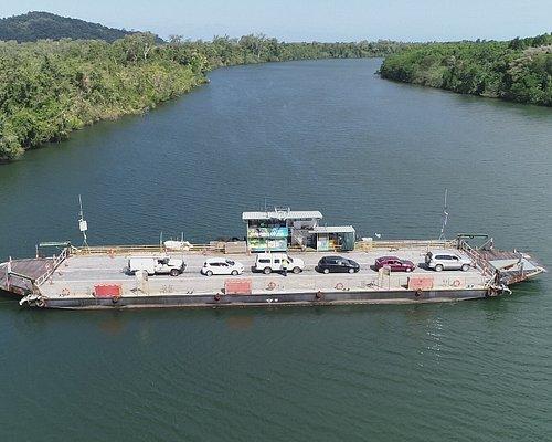 Daintree Ferry crossing the Daintree River