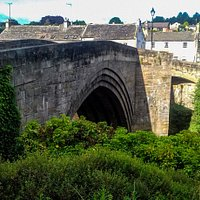 Photo of  County Bridge from Barnard Castle side of river. Taken from the path going up beside the castle.